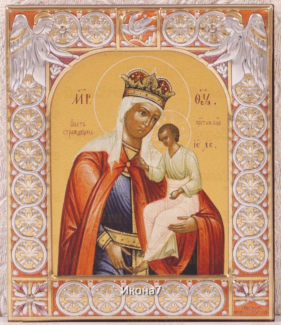 Обет страждущих икона Божией Матери (9х10,5см)