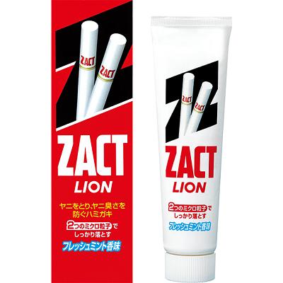 LION ZACT - отбеливающая зубная паста для курящих (устранение никотинового налета и запаха табака)