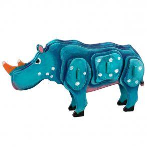 3D-пазл-раскраска «Носорог»