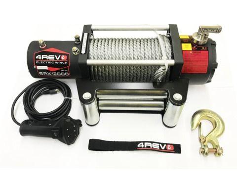 Лебедка автомобильная 4REVO SRX 12000 12В стальной трос