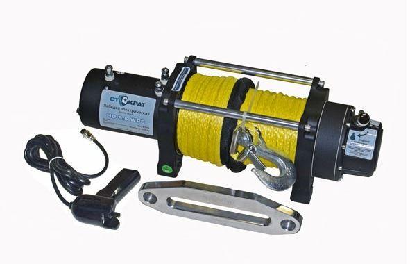 Лебедка электрическая автомобильная СТОКРАТ HD 9.5 WP, 12V, 6.0 л.с. с синтетическим тросом