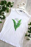 белая футболка Ландыши
