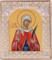 Икона Валентина Кесарийская (9х10,5см)