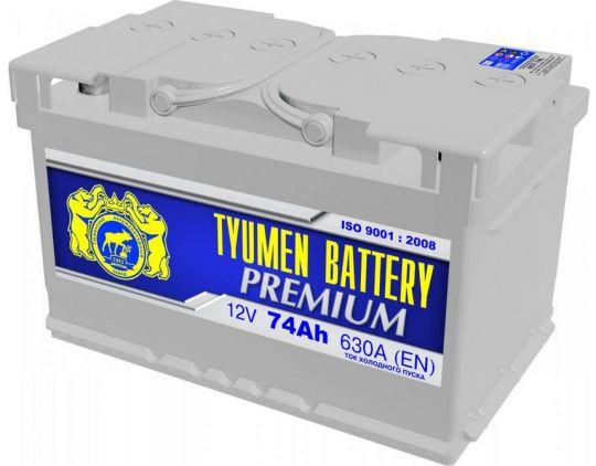 Автомобильный аккумулятор АКБ Тюмень Премиум (TYUMEN BATTERY) PREMIUM 6СТ-74L 74Aч О.П.