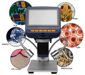 """4.3"""" Цифровой микроскоп 1080P с пультом"""