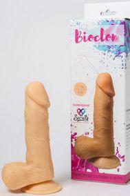Фаллоимитатор Bioclon № 9 на присоске с мошонкой из ПВХ, 17*4 см