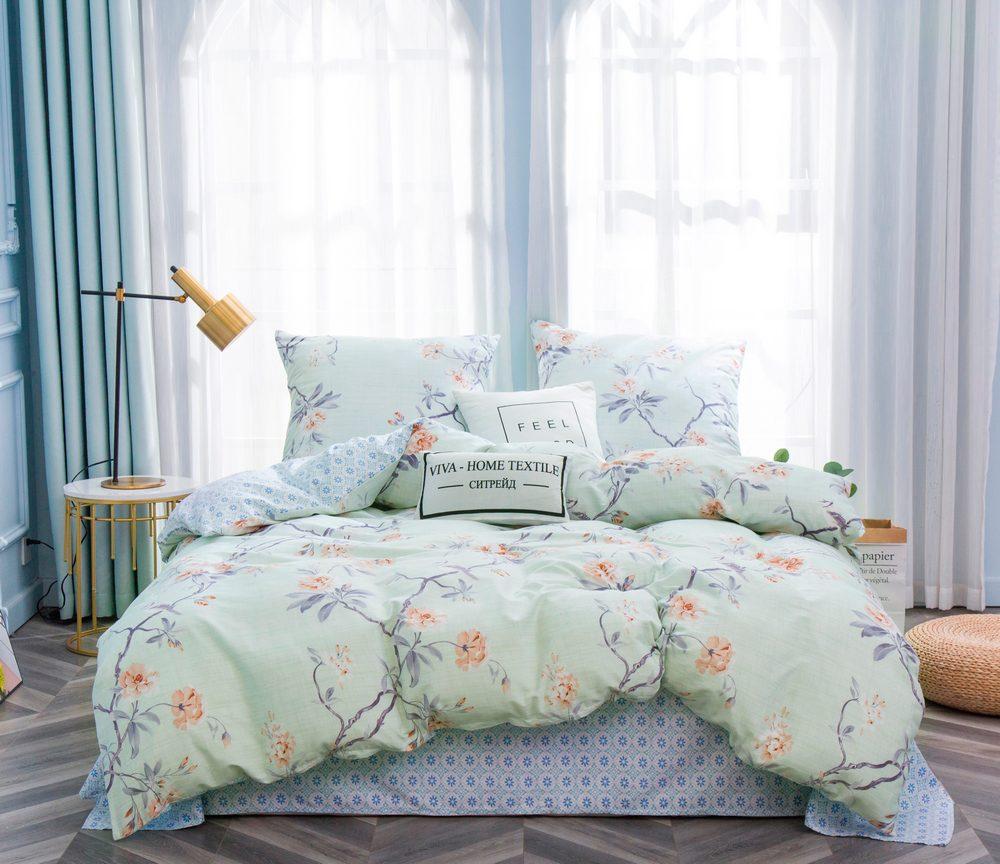 Комплект постельного белья 2 спальный Сатин C350