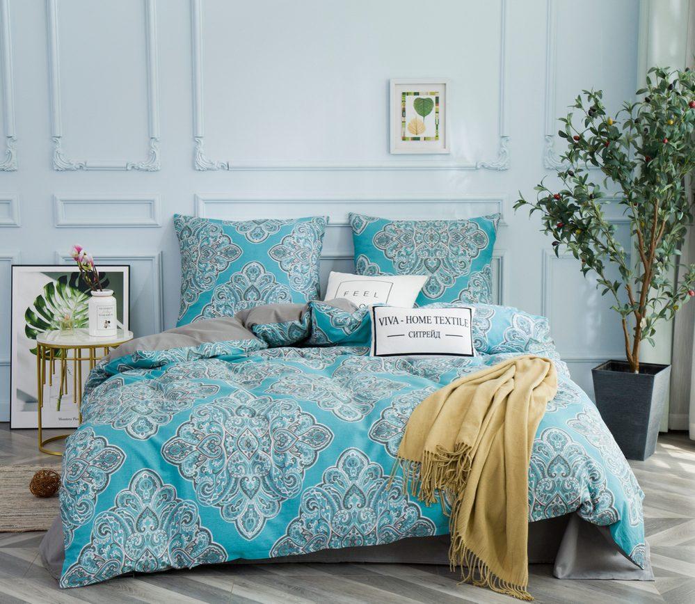 Комплект постельного белья 1.5 спальный Сатин C351