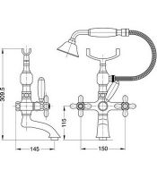 Migliore Princeton Plus смеситель для ванны и душа ML.PRP-8002.br