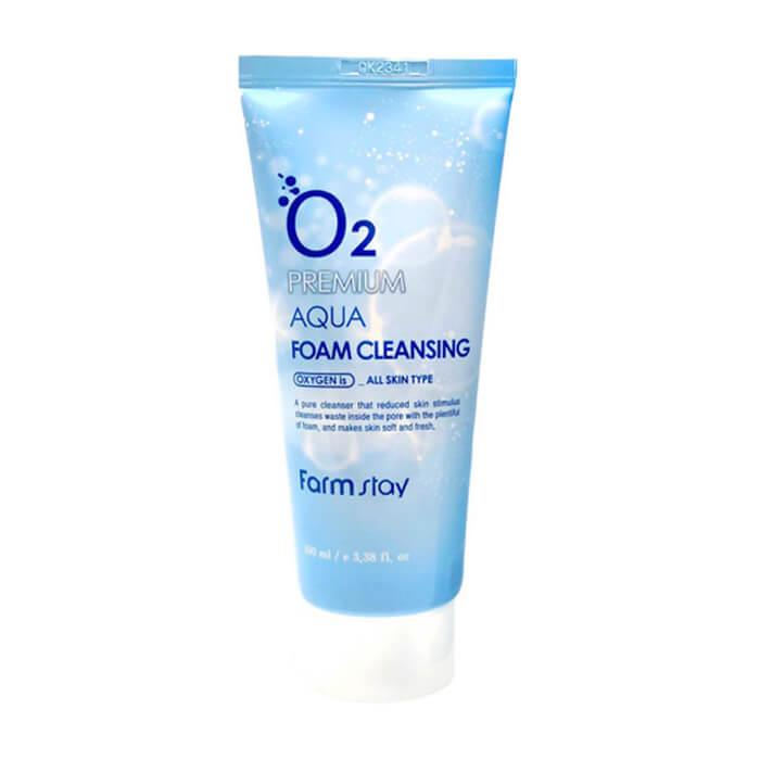 Пенка для лица FarmStay O2 Premium Aqua Foam Cleansing