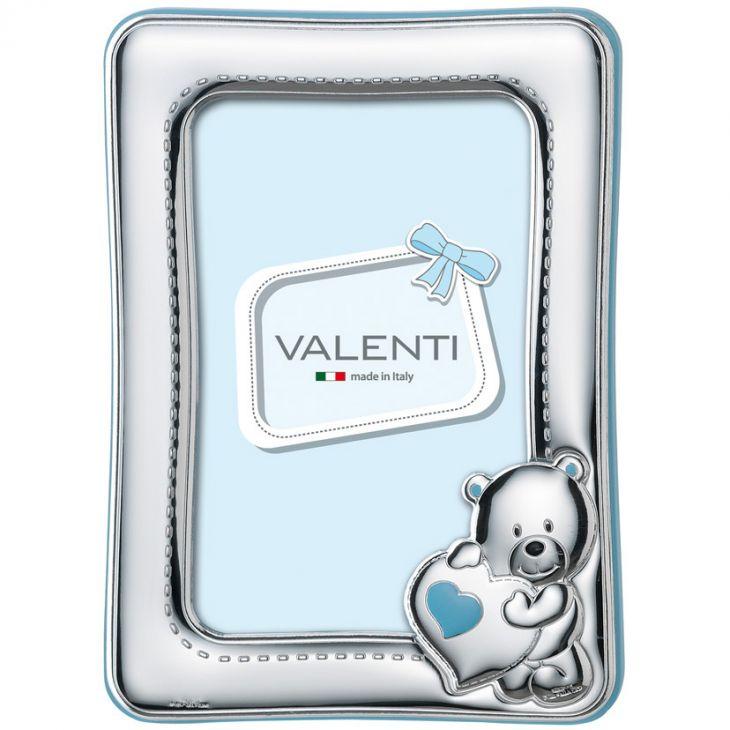 """Детская Рамка для фотографий """"Мишка с сердцем"""" (голубая) (Италия, 9х13 см.)"""