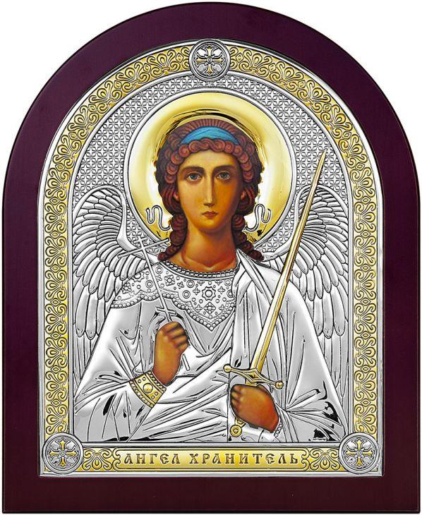 Серебряная икона Ангел Хранитель (Италия)