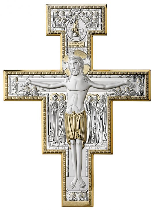 Распятие Иисуса Христа (Италия, 7х9 см.)