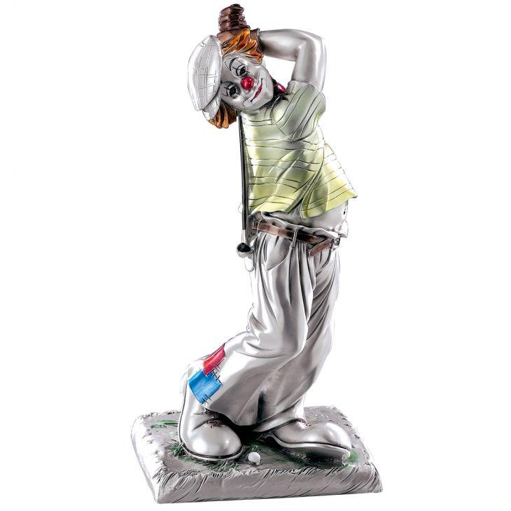 """Статуэтка """"Клоун-гольфист"""" (Италия, 14 см.)"""