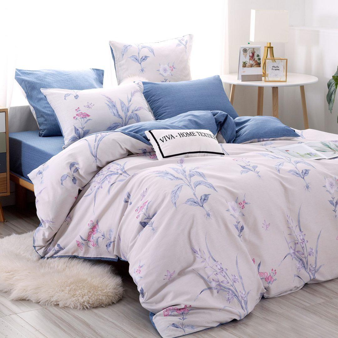 Комплект постельного белья Делюкс 2 спальный Сатин L211
