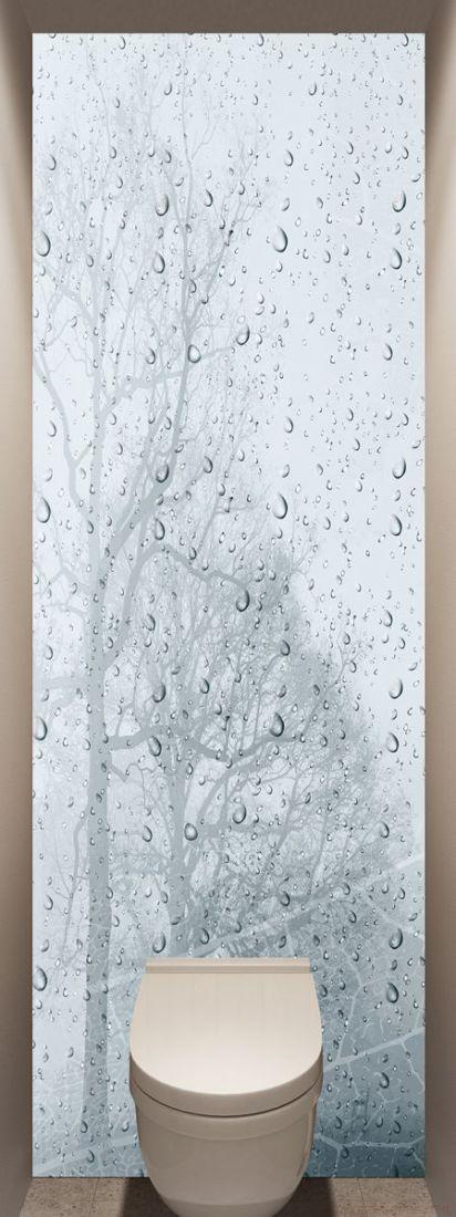 Фотообои в туалет - Ветер и дождь