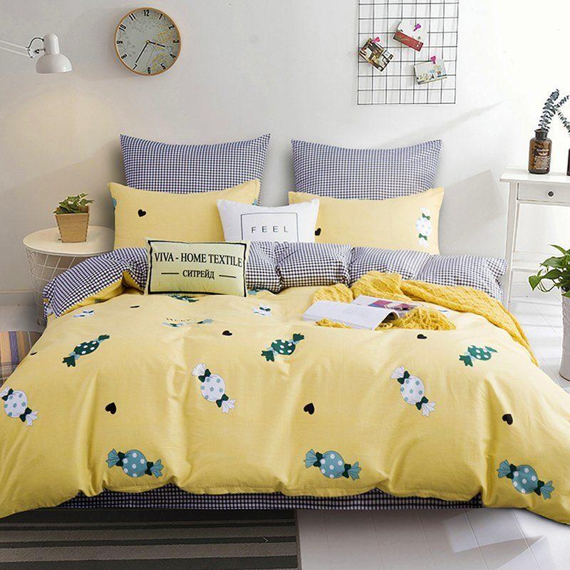 Комплект постельного белья Делюкс 2 спальный Сатин на резинке LR168