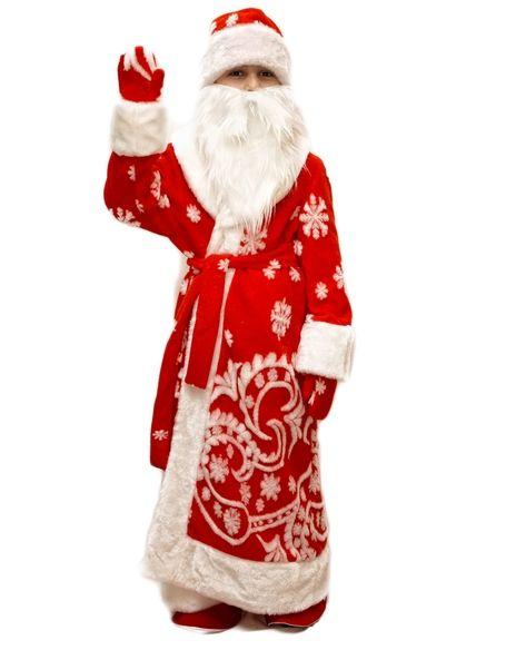 Меховой костюм Деда Мороза детский