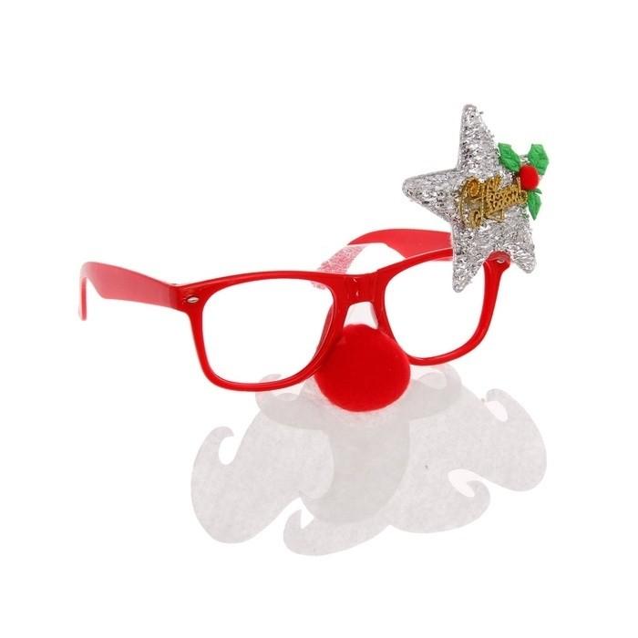 Новогодние очки со звездой