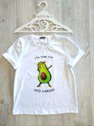 белая летняя футболка Avo-Cardio