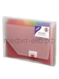 Папка А4 13 отделений на застежке Snopake карман для визитных карт 15768