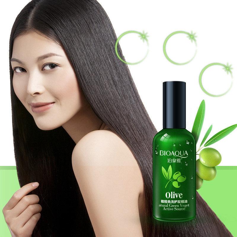 Питательный несмываемый кондиционер для слабых и тусклых волос «BIOAQUA» с оливковым маслом
