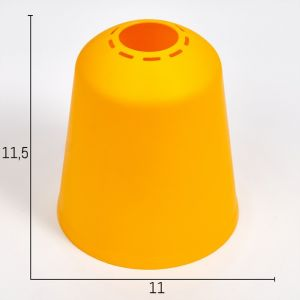 "Плафон универсальный ""Цилиндр""  Е14/Е27 желтый 11хх11х12см   4931331"