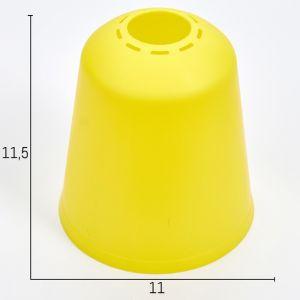 """Плафон универсальный """"Цилиндр""""  Е14/Е27 лимонный 11хх11х12см   4931337"""