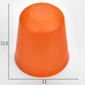 """Плафон универсальный """"Цилиндр""""  Е14/Е27 оранжевый 11хх11х12см   4931330"""