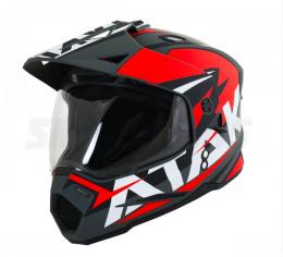 Шлем (мотард) Ataki JK802 Rampage красный/черный