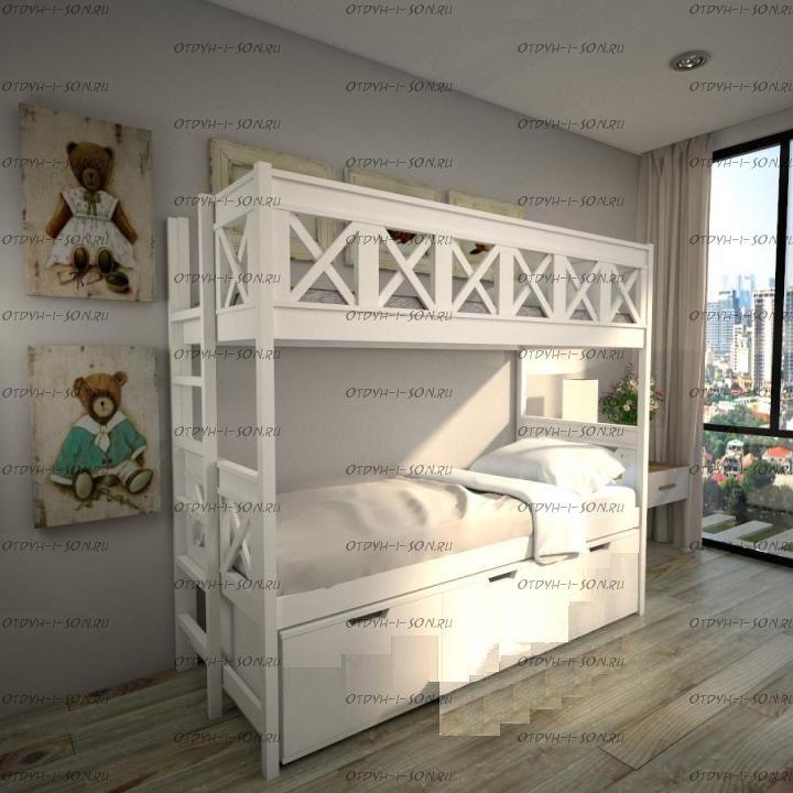 Кровать двухъярусная Прованс Factory №7D