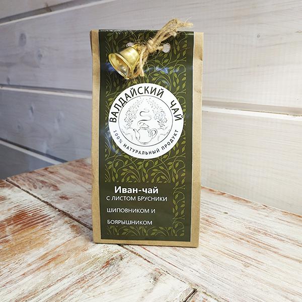 Иван-чай с листом брусники, шиповником и боярышником ферментированный