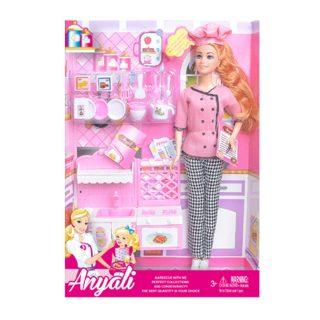 """Игр. набор """"Повар"""", в комплекте кукла 30 см, предметов 14 шт.,кор."""