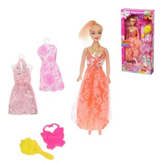 Кукла с набором аксесс., в компл.5 предм., кор.