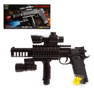 Пистолет мех., прицел, фонарь, 280мм., эл.пит. AG10*1шт., AG13*3шт.вх.в комплект, кор.