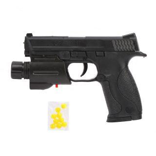 Пистолет мех., фонарь, 155мм., эл.пит. AG10*1шт., AG13*1шт.вх.в компл., кор.