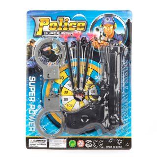 Игр.набор Полиция, пистолет, стрелы с присосками 3шт., наручники, блистер