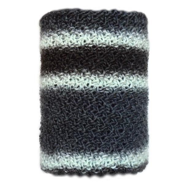 Мужской вязаный шарф серого цвета
