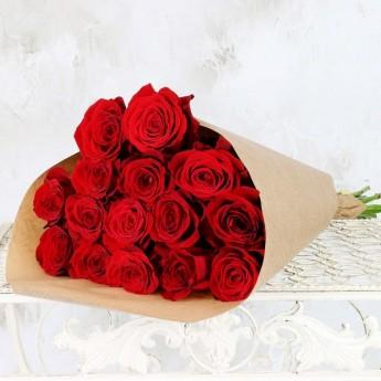 Букет из красных роз 50 см