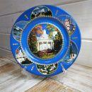 Тарелка сувенирная «Валдай.Музей Колоколов»(синяя)