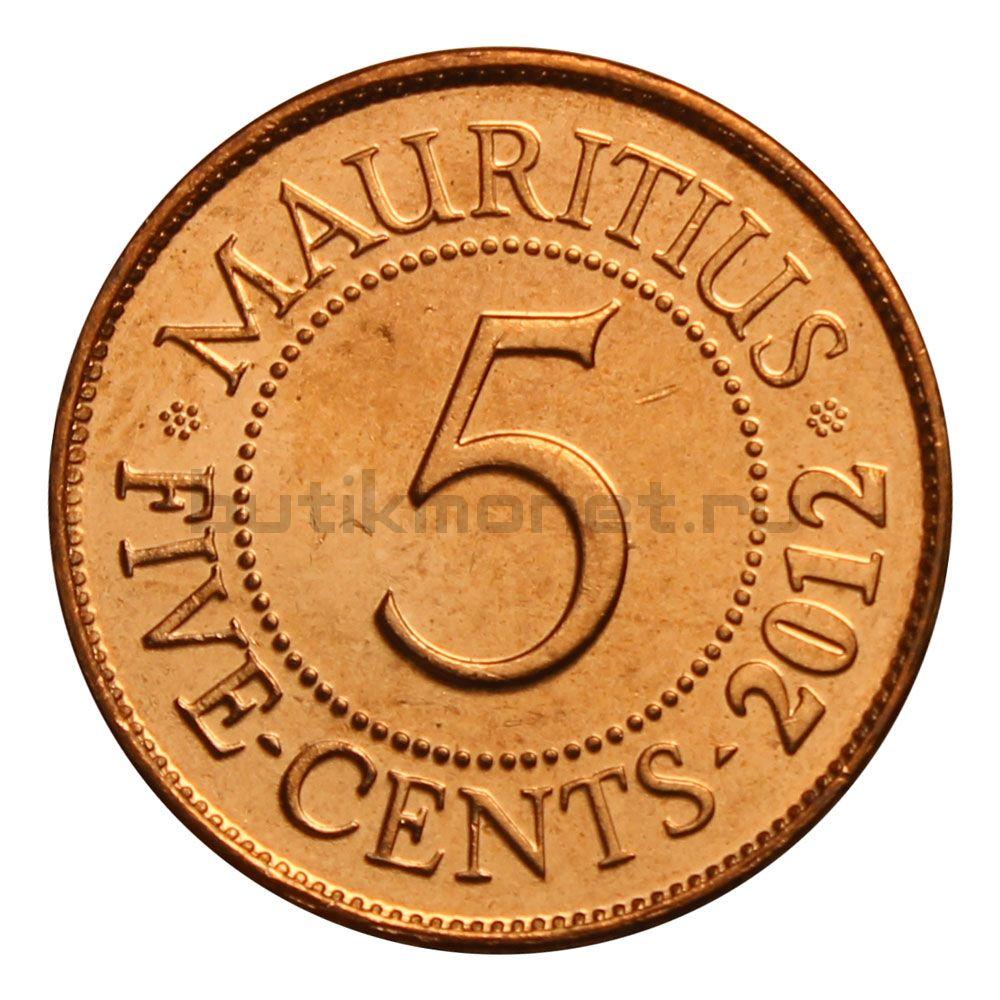 5 центов 2012 Маврикий