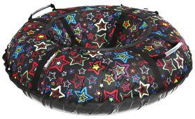 Тюбинг Hubster Люкс Pro Звезды черные 90 см