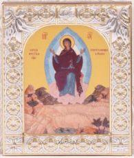 Спорительница хлебов икона Божией Матери (9х10,5см)