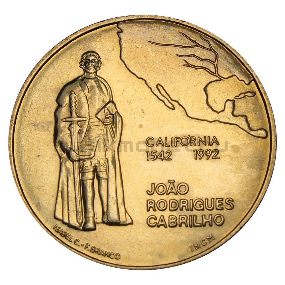 200 эскудо 1992 Португалия 450 лет открытию Калифорнии