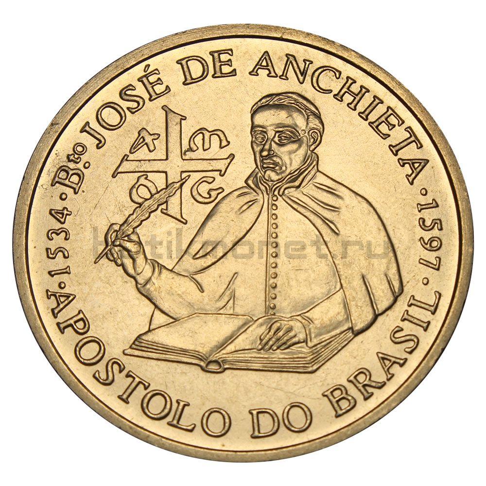 200 эскудо 1997 Португалия 400 лет со дня смерти Хосе де Анчьета