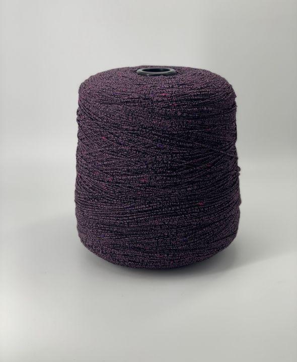 Пряжа для ковриков, сумок цвет баклажан