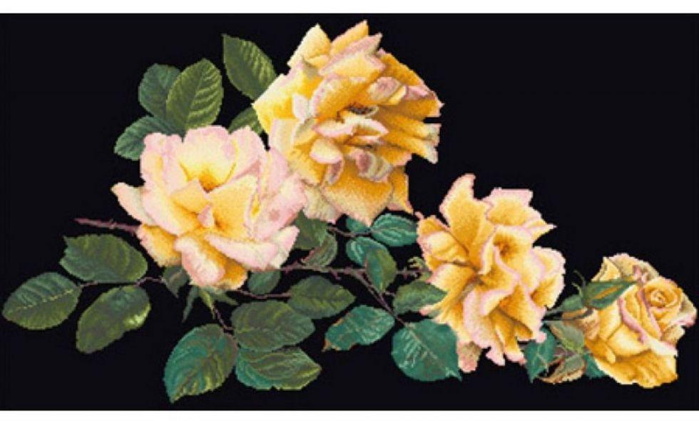 Набор для вышивания  Желтые розы THEA GOUVERNEUR (429.05)