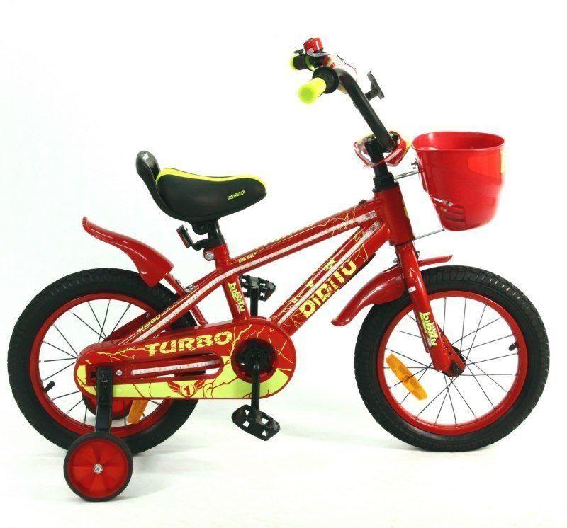 """Велосипед 14"""" BIBITU TURBO, красный"""