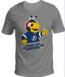 """Футболка детская """"Tampa Bay Lightning Kids Mascot"""" печать, меланж"""