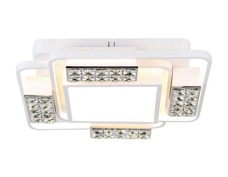 Потолочный светодиодный светильник с пультом FA144 WH белый 96W 500*500*100 (ПДУ РАДИО 2.4)